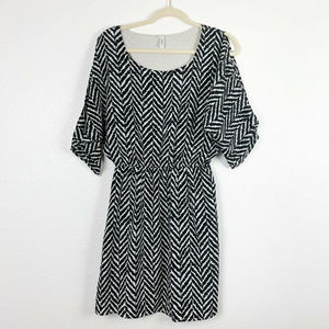 Maurices Herringbone Pattern Slit Sleeve Dress Sm